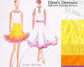 83c02106f777 Lovely Lily - Junior 1 Ballroom Dancing Set (Leotard + 2 skirts +  accessories)