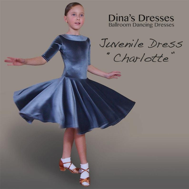fc5b0796d Juvenile Ballroom Dancing Dress Charlotte | Etsy