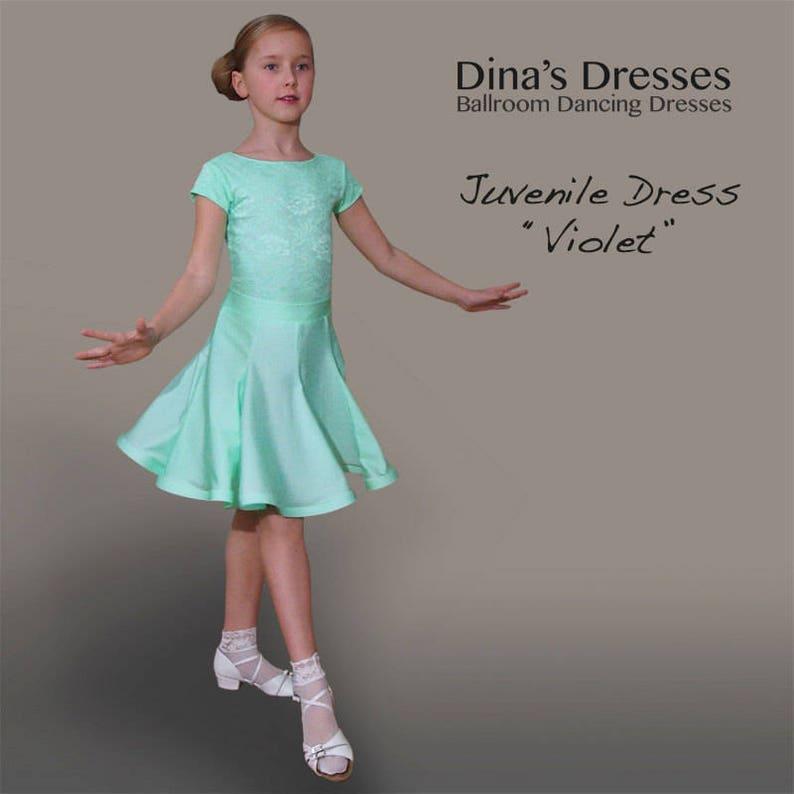 c92370976 Juvenile Ballroom Dancing Dress Violet | Etsy
