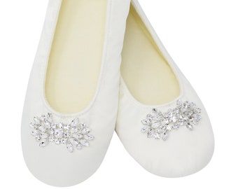 Wedding Slippers Bride Bridal Party Wedding by VerreSlippers
