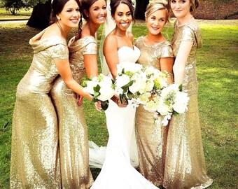 40c21522901 Gold Bridesmaid Dresses