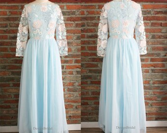 44d32bdfd38c Lace Bridesmaid Dresses with Sleeves