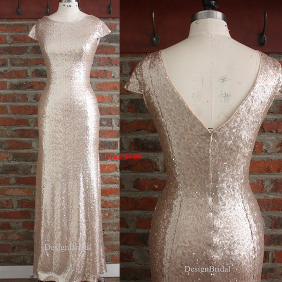 Backless Sequin Dress Longsimple Formal Dresses For Womennew Etsy