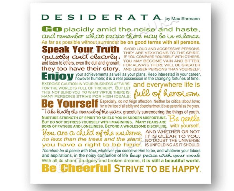 photograph about The Desiderata Poem Printable called Desiderata Poem via Max Erhmann - Instantaneous Printable Obtain Artwork - 8x8 Sq. Earthtones - House Decor Inspiring Reward - Style as a result of Ginny Gaura