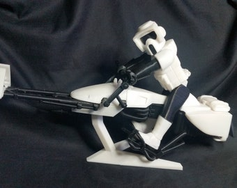 3d printed custom Star Wars 9-inch scout and speeder bike