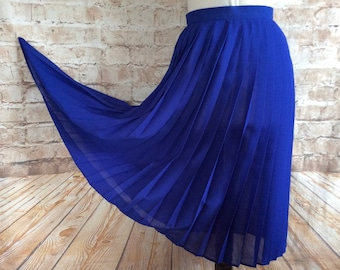 SM Royal Blue polka dot skirt from the 1980/'s by St Michael