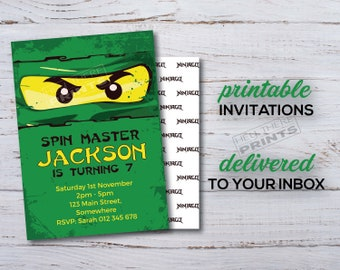 Ninjago Invitation - Ninja Party - Lego - Printable Invitation - Ninja Party - Digital Invitation - Birthday Invitation