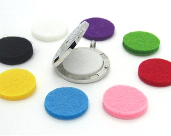Thick Essential Oil Diffuser Pads for 30mm Aromatherapy Lockets Replacement Felt