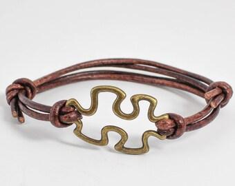 Puzzle Piece Bracelet, Autism Awareness Bracelet, Autism Bracelet, Autism Jewelry, Couples Bracelet, Best Friends Gift, Friendship Bracelet