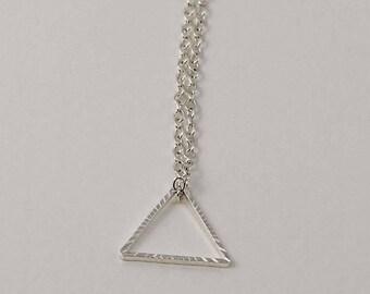 Triangle Charm Necklace, Triangle Jewelry, Triangle Necklace, Geometric Necklace, Geometric Jewelry, Simple Jewelry, Everyday Jewelry, Women