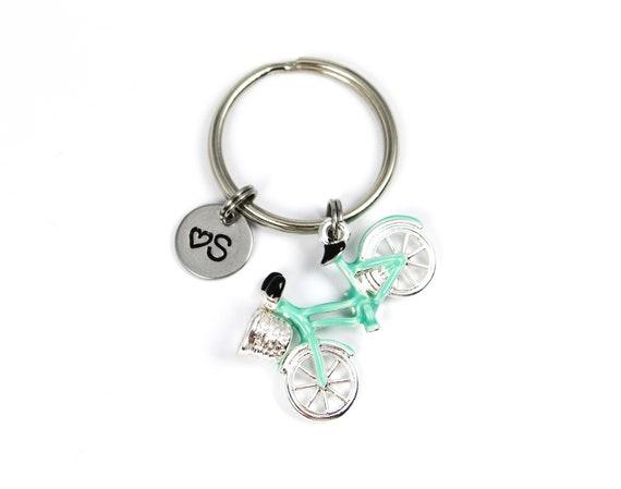 Custom Bicycle Keychain Biker Gift Bike Rider Gift Bicycle Charm Bike Lover Bicycle Keyring Bike Keyring Cyclist Gift Bike Keychain