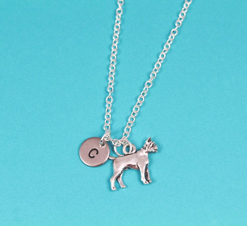 Boxer Dog English sterling silver charm 137