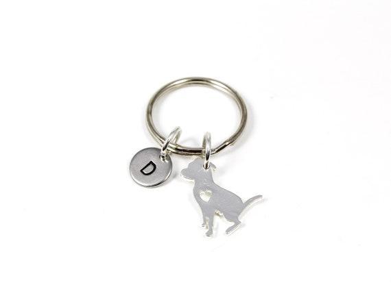 Pit bull Mom Key chain Pitbull Mom Keychain  Dog Present best Jewelry gift