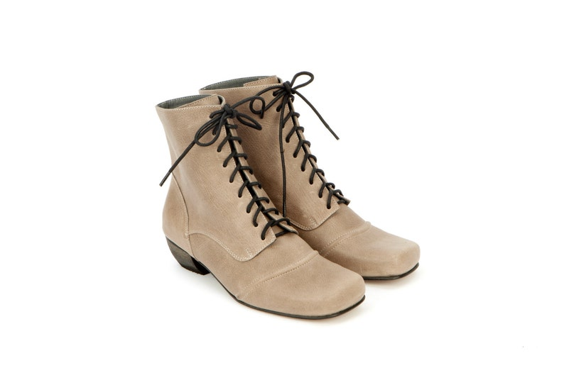 5471e4a7c133 Tom Sawyer Womens leather shoes Lace Up Ankle Booties Granny