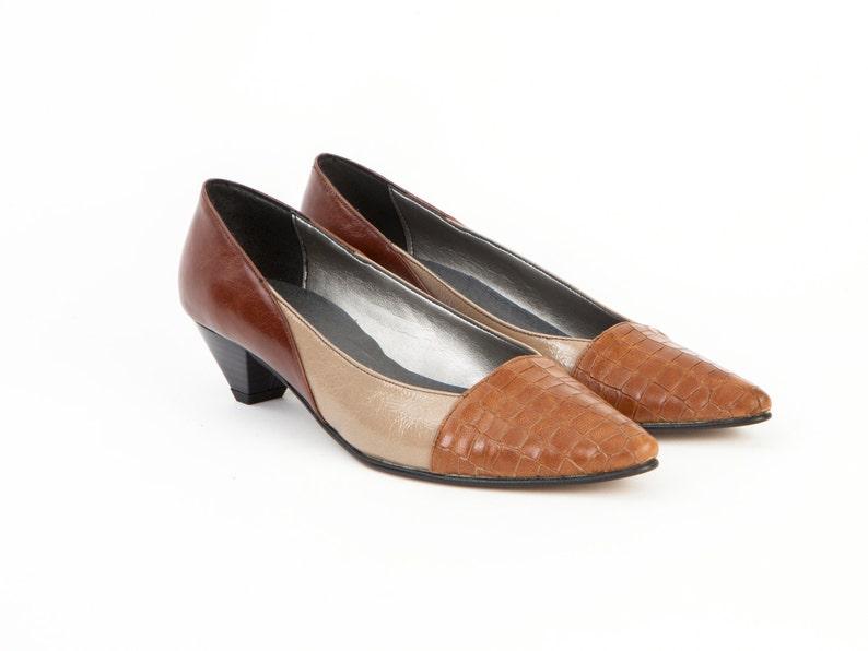 Bombas Pimentón Cuero CocodriloEtsy Zapatos Para Mujer Cognac De IEYbeW2H9D