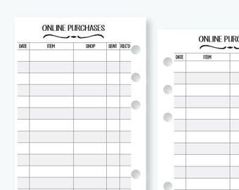 personal password keeper printed inserts 30 double sided etsy