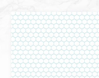 graphic about Printable Hexagon Graph Paper identified as Hexagonal graph Etsy