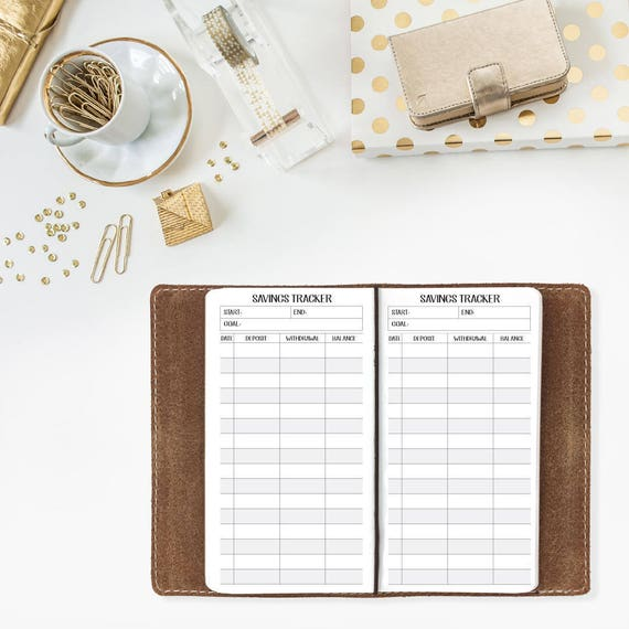 Savings Tracker Travelers Notebook