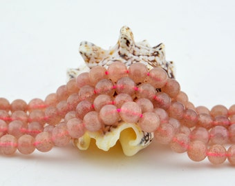 15.5 Inch Full Strand  Natural Strawberry Quartz  Loose Beads 6mm Round Bead