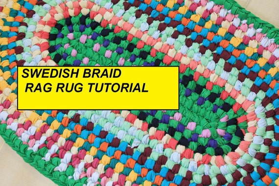 Pdf Tutorial Oval Swedish Braid Rag Rug Aka Double Toothbrush Rug Pattern How To Make A No Sew Rag Rug Diy Rag Rug Pdf Rug Pattern