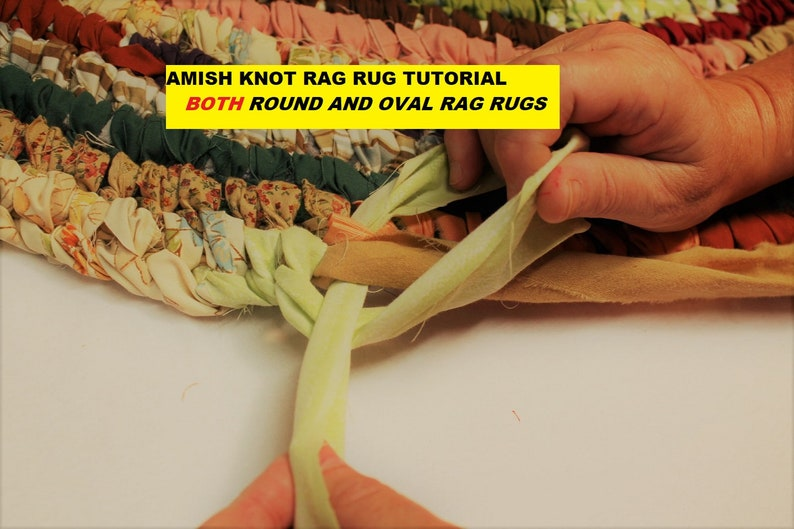 PDF Amish Knot Rag Rug Tutorial, Round Rug & Oval Rug Tutorial, AKA  Toothbrush Rug Pattern, No Sew Rag Rug, PDF Rag Rug Pattern