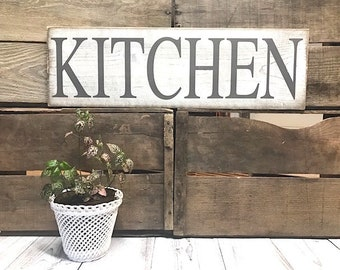 Merveilleux Kitchen Signs Decor Farmhouse White, Rustic Home Decor Shabby Chic  Distressed, Kitchen Wall Decor French Country Gray, Kitchen Wall Decor