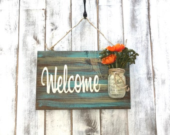 Welcome sign for lake house, rustic home decor, outdoor signs for home, rustic wood wall art, gifts, rustic country decorations for front