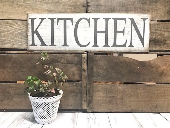 Shabby Chic Kitchen Signs : Kitchen signs decor farmhouse white rustic home decor shabby etsy