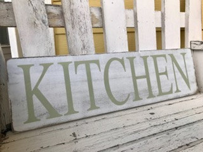 Shabby Chic Kitchen Signs : Kitchen signs decor shabby chic green rustic home decor etsy