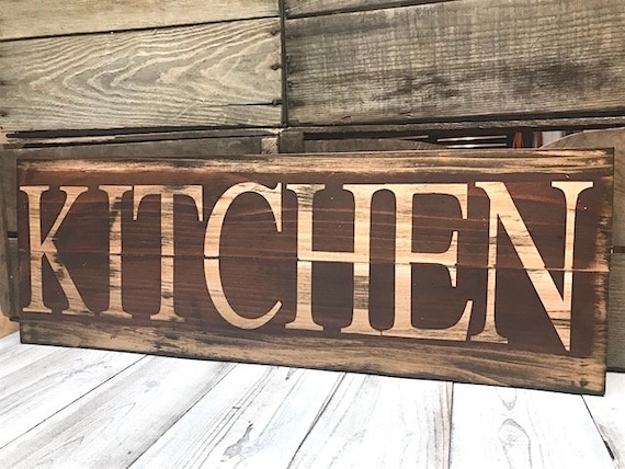 Merveilleux Kitchen Signs Decor Farmhouse Rustic Red Home Decor Rustic | Etsy
