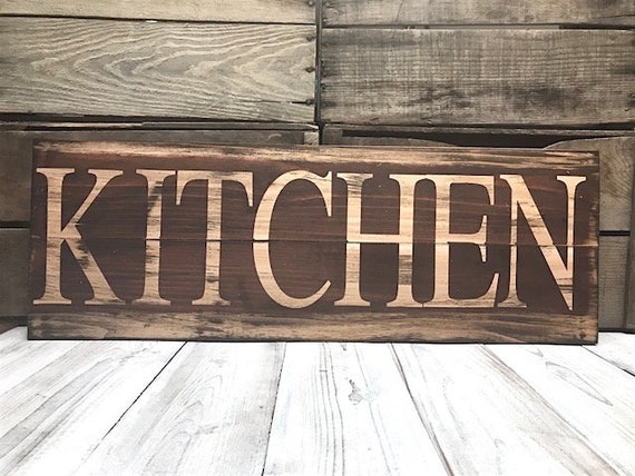 Kitchen Signs Decor Farmhouse Rustic Red Home