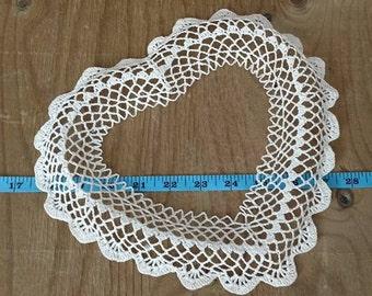 Crochet Picture Frame / Ornament / Wall Decor /  Cotton / Lace Design