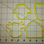 Farm Cookie Cutters Cow Sheep Horse Barn Cookie Cutter 3D Cookie Cutter Fondant Cutter Cake Decorating Cookie Decorating Baking Supplies