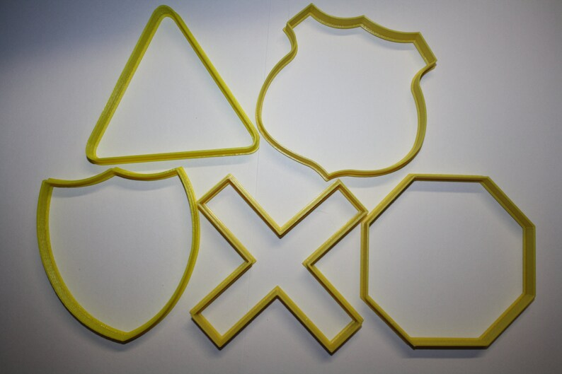 Road Signs Cookie Cutter Set Highway Signs Cookie Cutter image 0
