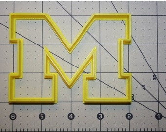 Letter M Cookie Cutter Varsity Letter Cookie Cutter