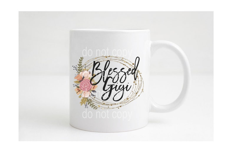 Blessed Gigi Coffee Mug Coffee Cup Pregnancy Announcement Gift image 0
