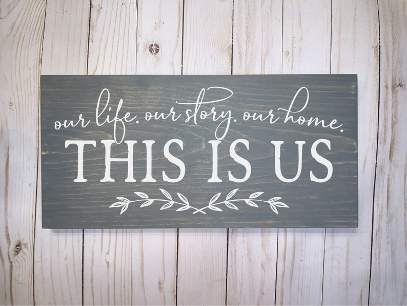 This Is Us Wood Sign Wood Signs Wood Plaque Custom Wood Decor image 0