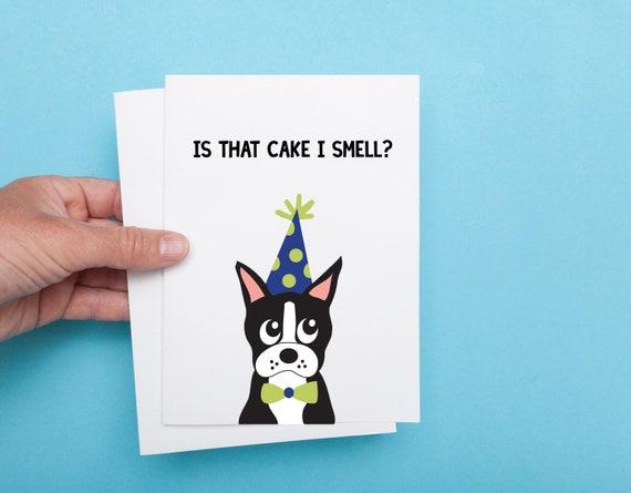 Boston Terrier Birthday Card Dog Birthday Card Birthday Card Etsy