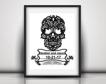 Gay Couple Present - Gift For New Gouple - Tattoo Wedding Gift - Goth Couple Gift - Gift For Goth Couple - Gothic Couple Gift - Handfasting