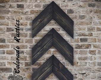Wood Chevron, Wood Arrow, Chevron Art, Chevron Arrow, Rustic Arrow, Wood Arrow Wall Art, Rustic Decor, Arrow Decor, Rustic Wall Decor, Black