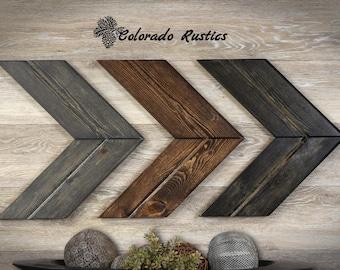Wooden Chevron Arrows, Chevron, Gray Arrow, Rustic Wall Décor, Arrow, Wood Wall Art, Rustic Arrow, Wood Chevron, Wooden Arrow, Multi Color