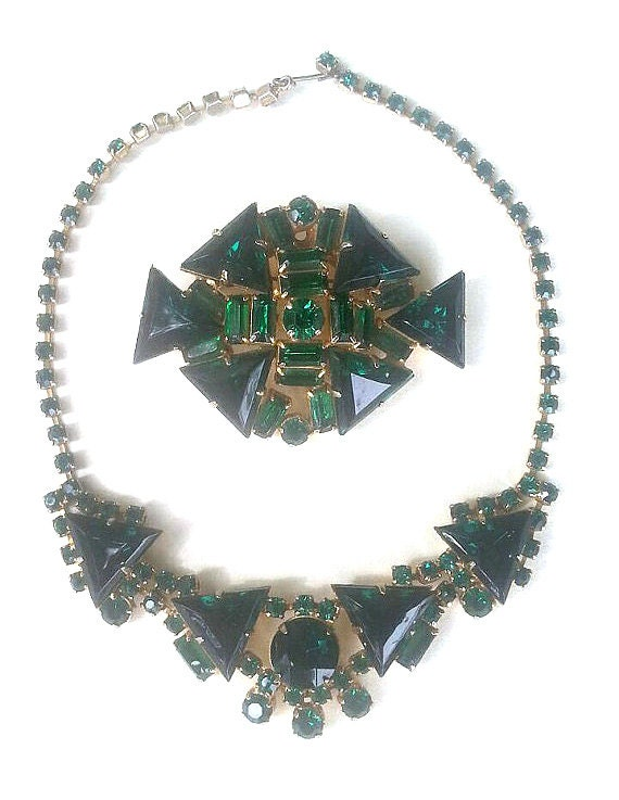 Costume, Emerald Green, Jewelry Set
