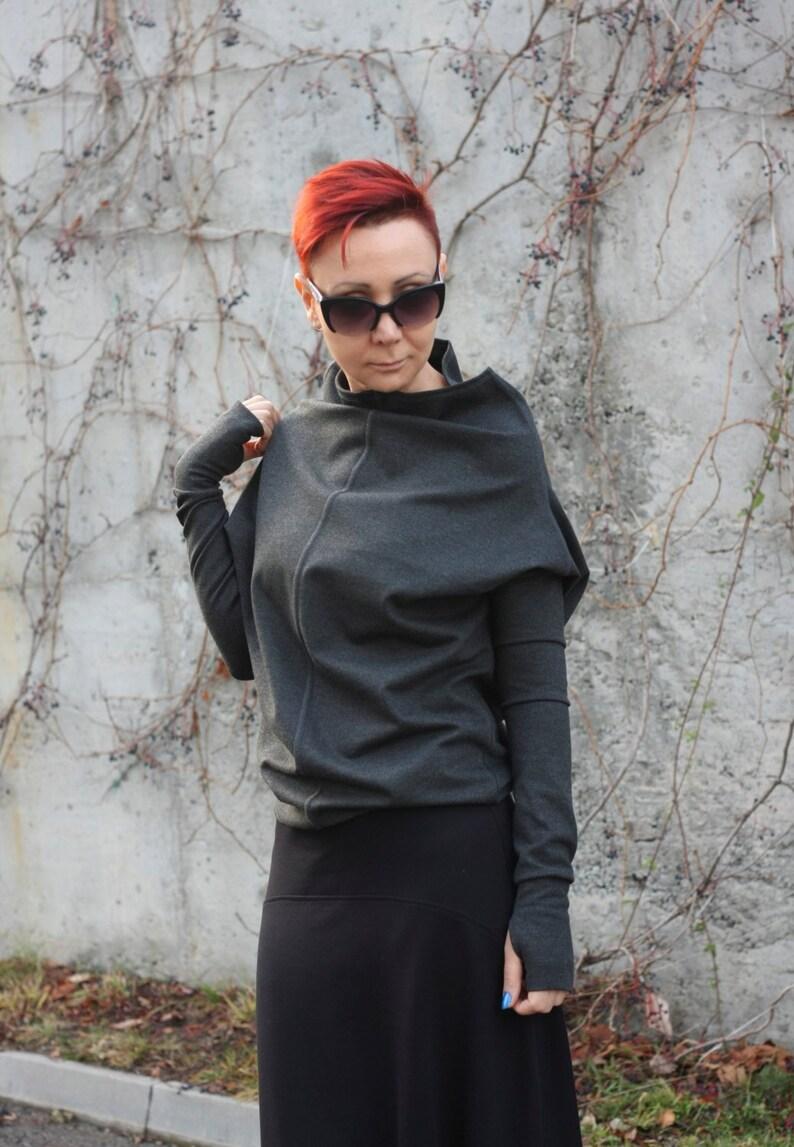 2d33bb3025ce86 Graue Bluse Blusen Frauen Shirt für Damen Langarm Oberteil | Etsy