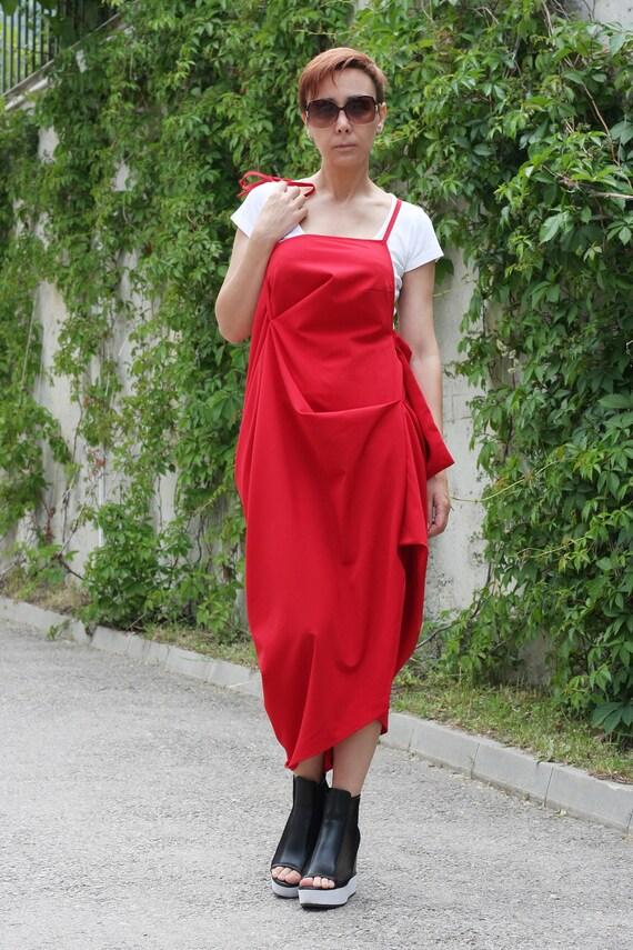 Red Dress Dresses For Women Tunic Dress Sleeveless Dress Etsy