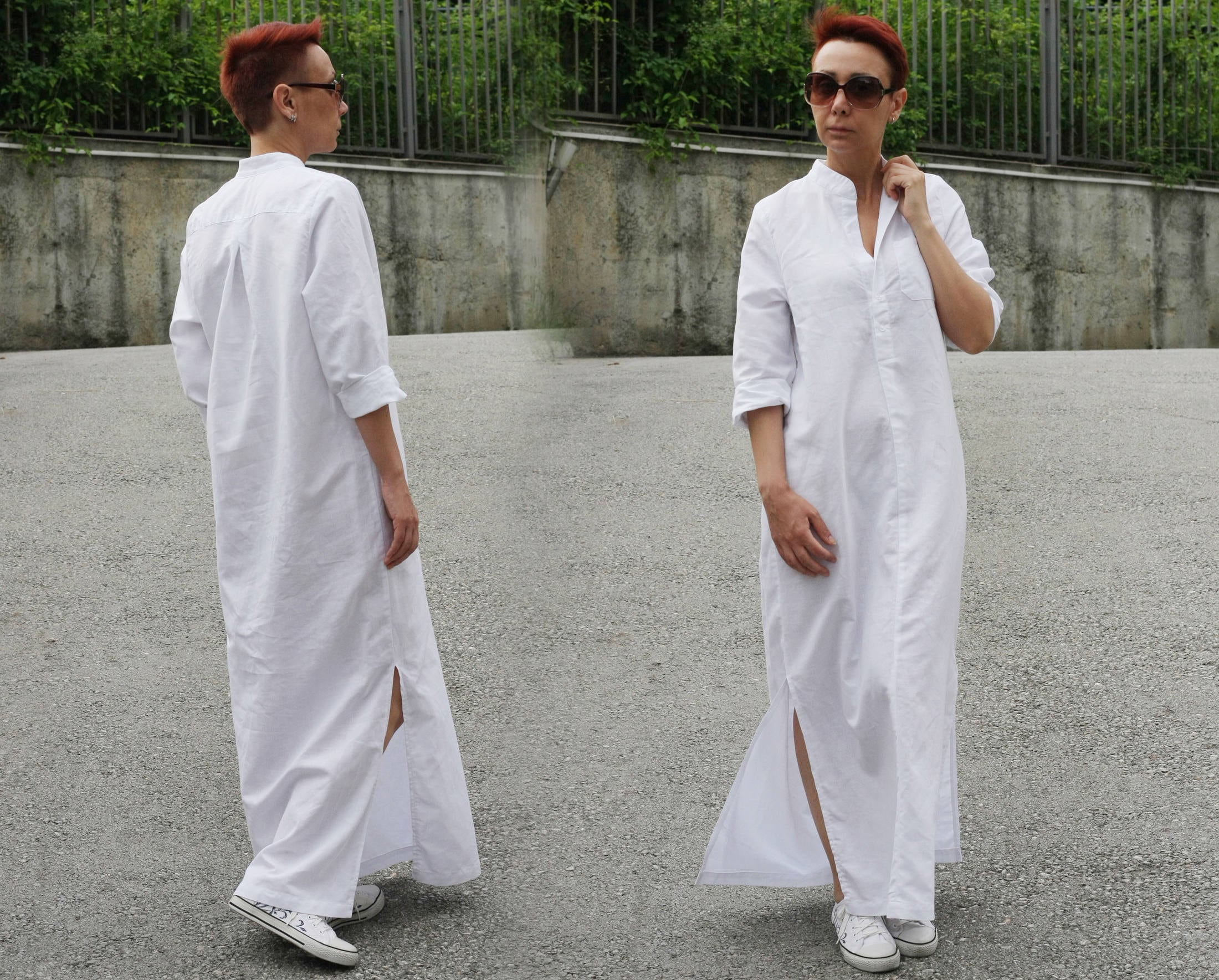 Shirt Dress Beach Shirt Long Linen Shirt Boho Maxi Dress Etsy