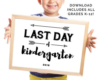Last Day of School Sign, Last Day Printable, School Sign, Photo Props for Kids, School Picture Sign, School Printables, Instant Download