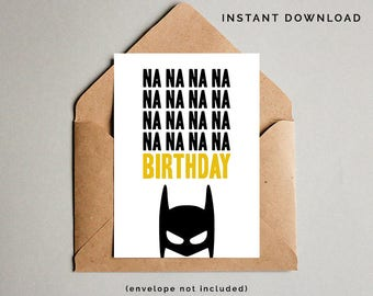 Batman birthday card etsy batman birthday card superhero birthday card boys birthday card super hero printables funny birthday card instant download m4hsunfo