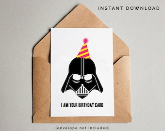 image about Star Wars Birthday Card Printable Free identify Star wars social gathering card Etsy