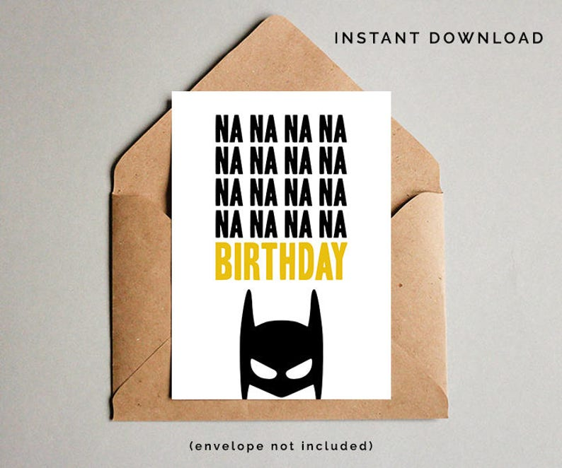 Batman Birthday Card Superhero Boys