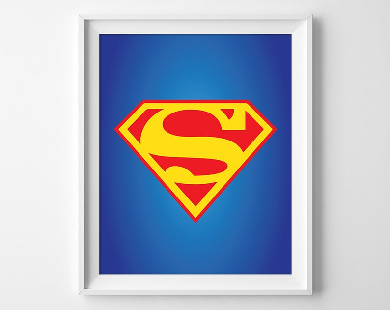Superman Print Superman Nursery Art Superhero Nursery Decor Justice League Decor Superman Printable Instant Download